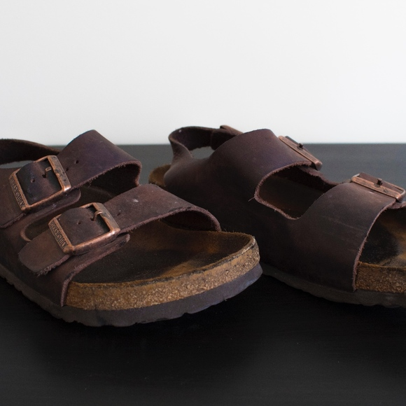 a5e4f45cd42a Birkenstock Other - Birkenstock Milano Habana Oiled Leather Sandals